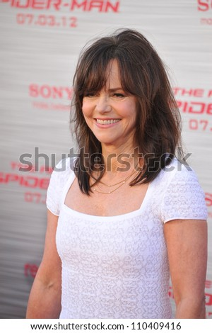 "LOS ANGELES, CA - JUNE 29, 2012: Sally Field at the world premiere of her movie ""The Amazing Spider-Man"" at Regency Village Theatre, Westwood. - stock photo"