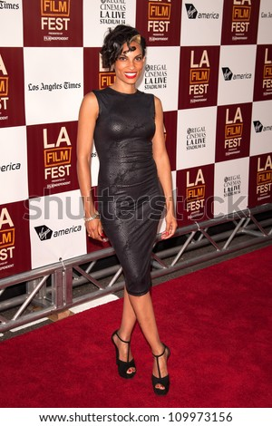 LOS ANGELES, CA - JUNE 20: Singer Goapele arrives at the Los Angeles Film Festival premiere of 'Middle of Nowhere' at Regal Cinemas L.A. LIVE 1 on June 20, 2012 in Los Angeles, California.