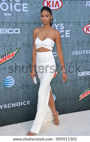 LOS ANGELES, CA - JUNE 7, 2015: Supermodel Chanel Iman at Spike TV's 2015 Guys Choice Awards at Sony Studios, Culver City.  - stock photo