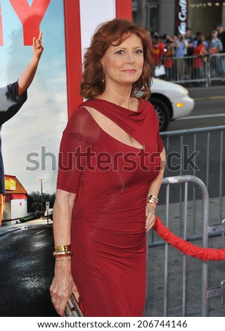 "LOS ANGELES, CA - JUNE 30, 2014: Susan Sarandon at the premiere of her movie ""Tammy"" at the TCL Chinese Theatre, Hollywood.  - stock photo"