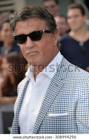 "LOS ANGELES, CA - JUNE 28, 2015: Sylvester Stallone at the Los Angeles premiere of ""Terminator Genisys"" at the Dolby Theatre, Hollywood.  - stock photo"