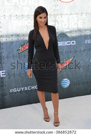 LOS ANGELES, CA - JUNE 7, 2015: TV presenter Liz Hernandez at Spike TV's 2015 Guys Choice Awards at Sony Studios, Culver City. - stock photo