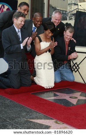 LOS ANGELES, CA - MAR 20: Rick Fox, Forest Whitaker attend a ceremony where Angela Bassett receives a star on the Hollywood Walk of Fame in Los Angeles, CA on March 20, 2008