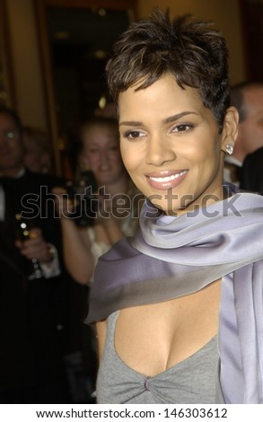 LOS ANGELES, CA - MARCH 9, 2002: Actress HALLE BERRY at the 54th Annual Directors Guild Awards in Beverly Hills.  - stock photo
