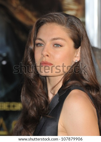 "LOS ANGELES, CA - MARCH 31, 2010: Alexa Davalos at the Los Angeles premiere of her new movie ""Clash of the Titans"" at Grauman's Chinese Theatre, Hollywood."