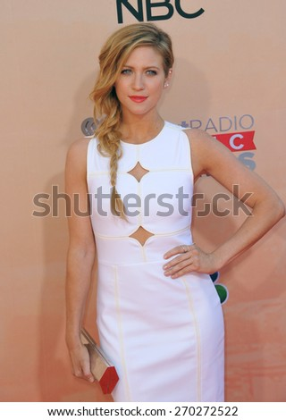 LOS ANGELES, CA - MARCH 29, 2015: Brittany Snow at the 2015 iHeart Radio Music Awards at the Shrine Auditorium.