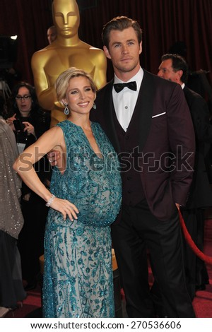 LOS ANGELES, CA - MARCH 2, 2014: Chris Hemsworth & Elsa Pataky at the 86th Annual Academy Awards at the Hollywood & Highland Theatre, Hollywood.