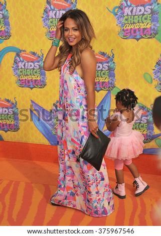 Christina Milian Kids 2014