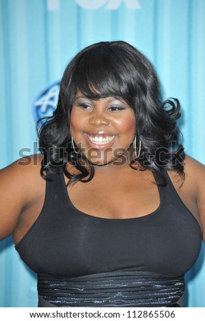 "LOS ANGELES, CA - MARCH 5, 2009: ""Glee"" star Amber Riley at the American Idol Final 13 Party at Area Nightclub, West Hollywood."