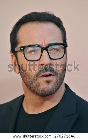 LOS ANGELES, CA - MARCH 29, 2015: Jeremy Piven at the 2015 iHeart Radio Music Awards at the Shrine Auditorium.