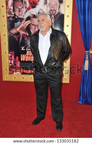 """LOS ANGELES, CA - MARCH 11, 2013: John Ratzenberger at the world premiere of """"The Incredible Burt Wonderstone"""" at the Chinese Theatre, Hollywood. - stock photo"""