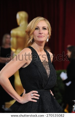 LOS ANGELES, CA - MARCH 2, 2014: Julia Roberts at the 86th Annual Academy Awards at the Hollywood & Highland Theatre, Hollywood.  - stock photo