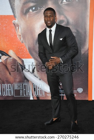 "LOS ANGELES, CA - MARCH 25, 2015: Kevin Hart at the Los Angeles premiere of his movie ""Get Hard"" at the TCL Chinese Theatre, Hollywood.  - stock photo"