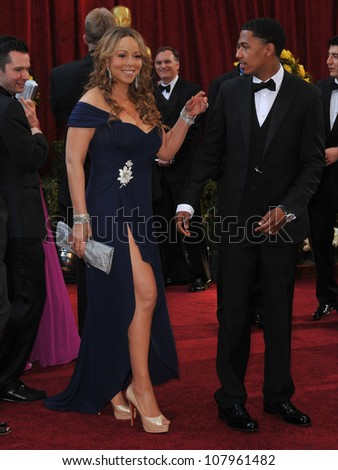 LOS ANGELES, CA - MARCH 7, 2010: Mariah Carey & Nick Cannon at the 82nd Annual Academy Awards at the Kodak Theatre, Hollywood.