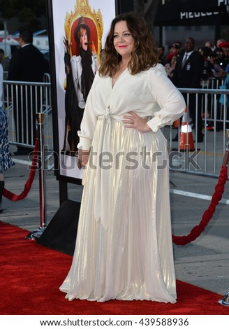 "LOS ANGELES, CA - MARCH 28, 2016: Melissa McCarthy at the premiere for her movie ""The Boss"" at the Regency Village Theatre, Westwood."