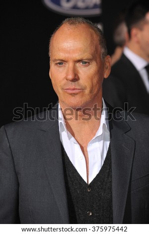 "LOS ANGELES, CA - MARCH 6, 2014: Michael Keaton at the U.S. premiere of his movie ""Need for Speed"" at the TCL Chinese Theatre, Hollywood."