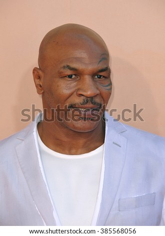 LOS ANGELES, CA - MARCH 29, 2015: Mike Tyson at the 2015 iHeart Radio Music Awards at the Shrine Auditorium.