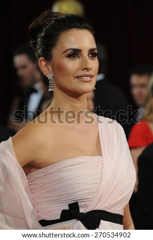 LOS ANGELES, CA - MARCH 2, 2014: Salma Hayek at the 86th Annual Academy Awards at the Hollywood & Highland Theatre, Hollywood.  - stock photo