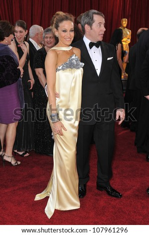 LOS ANGELES, CA - MARCH 7, 2010: Sarah Jessica Parker & Matthew Broderick at the 82nd Annual Academy Awards at the Kodak Theatre, Hollywood. - stock photo