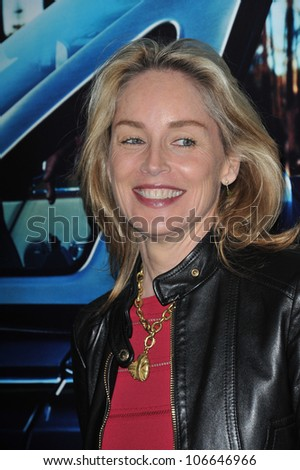 "LOS ANGELES, CA - MARCH 22, 2011: Sharon Stone at the premiere of ""His Way"", about  Jerry Weintraub at Paramount Studios, Hollywood. March 22, 2011  Los Angeles, CA"