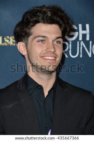 "LOS ANGELES, CA - MARCH 29, 2016: Singer Chris Burkich at the premiere for ""High Strung"" at the TCL Chinese 6 Theatres, Hollywood."
