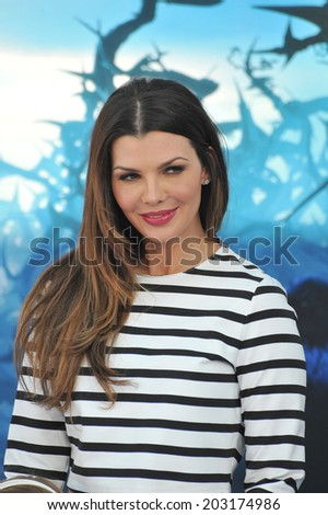 "LOS ANGELES, CA - MAY 29, 2014: Ali Landry at the world premiere of ""Maleficent"" at the El Capitan Theatre, Hollywood.  - stock photo"