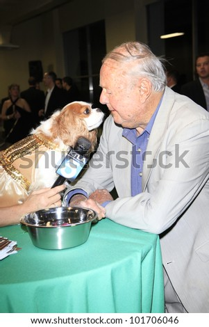 LOS ANGELES, CA - MAY 3: Dick Van Patten at the grand opening of the Pooch Hotel on May 3, 2012 in Hollywood, Los Angeles, California. The Pooch Hotel is a luxury hotel for dogs.