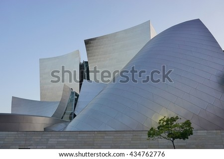 LOS ANGELES, CA -25 MAY 2016- Opened in 2003, the Walt Disney Concert Hall, home of the Los Angeles Philarmonic, was designed by architect Frank Gehry.
