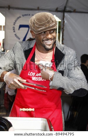 LOS ANGELES, CA - NOV 23: Blair Underwood at the Los Angeles Mission's 75th anniversary celebration, serving of it's traditional Thanksgiving meal on November 23, 2011 in Los Angeles, California