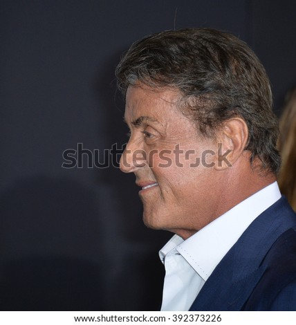 "LOS ANGELES, CA - NOVEMBER 19, 2015: Actor Sylvester Stallone at the premiere of ""Creed"""