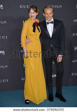LOS ANGELES, CA - NOVEMBER 7, 2015: Actress Dakota Johnson & actor Jesse Johnson at the 2015 LACMA Art+Film Gala at the Los Angeles County Museum of Art. - stock photo