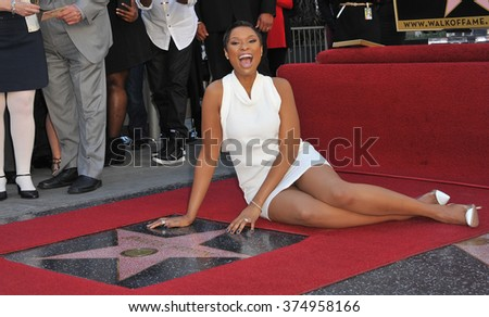 LOS ANGELES, CA - NOVEMBER 13, 2013: Actress/singer Jennifer Hudson is honored with the 2,512th star on the Hollywood Walk of Fame. Picture: Paul Smith / Featureflash - stock photo