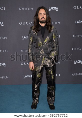 LOS ANGELES, CA - NOVEMBER 7, 2015: Alessandro Michele, Gucci creative director, at the 2015 LACMA Art+Film Gala at the Los Angeles County Museum of Art