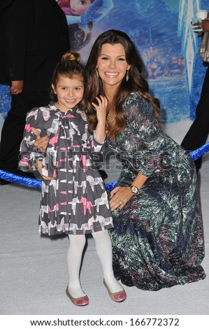 "LOS ANGELES, CA - NOVEMBER 19, 2013: Ali Landry at the premiere of Disney's ""Frozen"" at the El Capitan Theatre, Hollywood.  - stock photo"