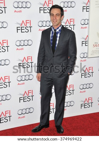 "LOS ANGELES, CA - NOVEMBER 7, 2013: B.J. Novak at the premiere of his movie ""Saving Mr Banks"" at the TCL Chinese Theatre, Hollywood. Picture: Paul Smith / Featureflash"