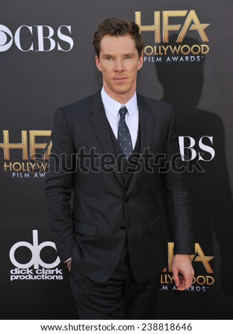 LOS ANGELES, CA - NOVEMBER 14, 2014: Benedict Cumberbatch at the 2014 Hollywood Film Awards at the Hollywood Palladium.  - stock photo