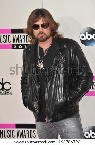 LOS ANGELES, CA - NOVEMBER 24, 2013: Billy Ray Cyrus at the 2013 American Music Awards at the Nokia Theatre, LA Live.  - stock photo