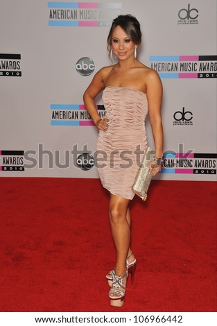LOS ANGELES, CA - NOVEMBER 21, 2010: Cheryl Burke at the 2010 American Music Awards at the Nokia Theatre L.A. Live.