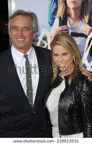 """LOS ANGELES, CA - NOVEMBER 19, 2014: Cheryl Hines & husband Robert Kennedy Jr. at the Los Angeles premiere of  """"Wild"""" at the Samuel Goldwyn Theatre, Beverly Hills.  - stock photo"""