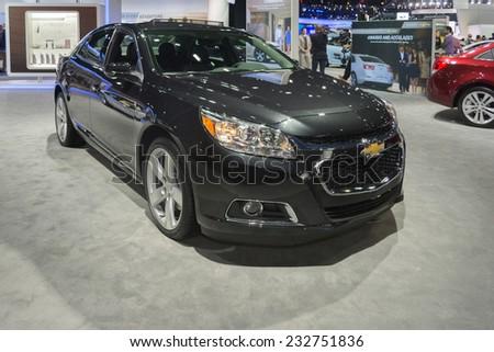 Los Angeles, CA - November 19, 2014: Chevrolet Malibu LTZ 2015on display at the LA Auto Show - stock photo