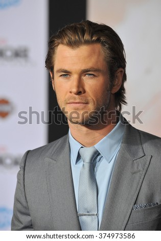 "LOS ANGELES, CA - NOVEMBER 4, 2013: Chris Hemsworth at the US premiere of his movie ""Thor: The Dark World"" at the El Capitan Theatre, Hollywood. Picture: Paul Smith / Featureflash - stock photo"
