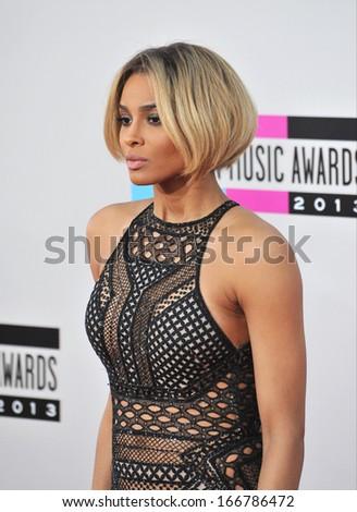 LOS ANGELES, CA - NOVEMBER 24, 2013: Ciara at the 2013 American Music Awards at the Nokia Theatre, LA Live.  - stock photo