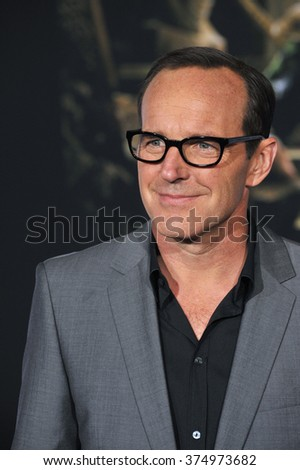 "LOS ANGELES, CA - NOVEMBER 4, 2013: Clark Gregg at the US premiere of ""Thor: The Dark World"" at the El Capitan Theatre, Hollywood. Picture: Paul Smith / Featureflash - stock photo"