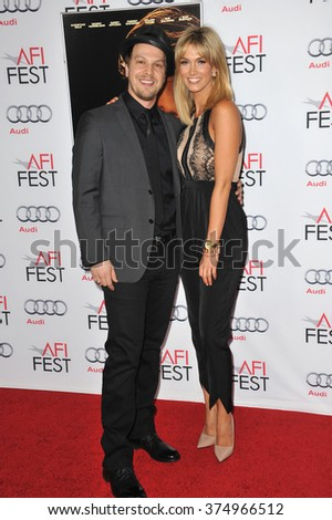 "LOS ANGELES, CA - NOVEMBER 9, 2013: Delta Goodrem & Gavin DeGraw at the Los Angeles premiere of ""Out of the Furnace"" at the TCL Chinese Theatre, Hollywood. Picture: Paul Smith / Featureflash"