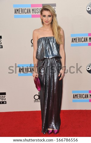LOS ANGELES, CA - NOVEMBER 24, 2013: Emma Roberts at the 2013 American Music Awards at the Nokia Theatre, LA Live.  - stock photo