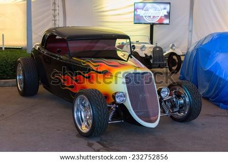 los angeles ca november 19 2014 hod rod car on display on