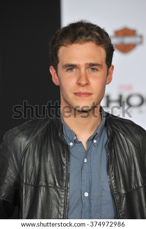 "LOS ANGELES, CA - NOVEMBER 4, 2013: Iain De Caestecker at the US premiere of ""Thor: The Dark World"" at the El Capitan Theatre, Hollywood. Picture: Paul Smith / Featureflash - stock photo"