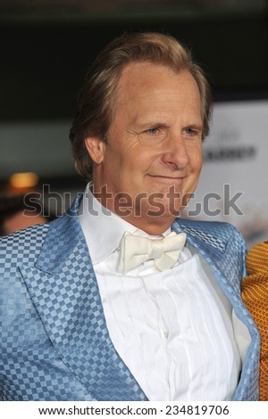 """LOS ANGELES, CA - NOVEMBER 3, 2014: Jeff Daniels at the premiere of his movie """"Dumb and Dumber To"""" at the Regency Village Theatre, Westwood.  - stock photo"""
