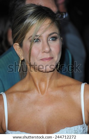 "LOS ANGELES, CA - NOVEMBER 4, 2014: Jennifer Aniston at the Los Angeles premiere of her movie ""Horrible Bosses 2"" at the TCL Chinese Theatre, Hollywood.  - stock photo"