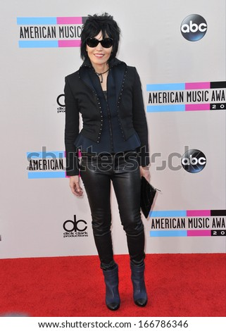 LOS ANGELES, CA - NOVEMBER 24, 2013: Joan Jett at the 2013 American Music Awards at the Nokia Theatre, LA Live.